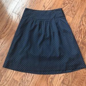 The Limited Polka Dot A-Line Skirt EUC